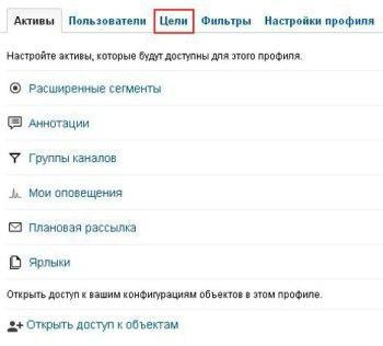 «Профиль» в Google Analytics
